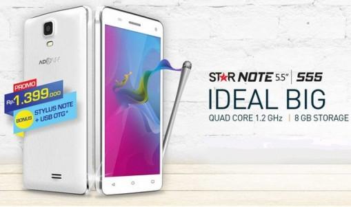 Advan Star Note S55, Smartphone Android Sejutaan Berlayar 5.5 inchi