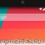 Cara Mudah Membuat Status Bar Android Menjadi Transparan