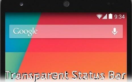 Status Bar Android Transparan