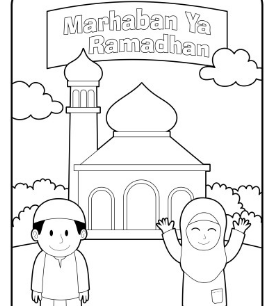 Gambar Anak Menyambut Ramadhan