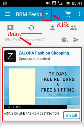 Cara menghilangkan Iklan di BBM