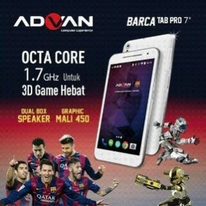 Advan Barca Tab Pro 7, Tablet Game Layar 7 Inchi Prosesor Octa-Core