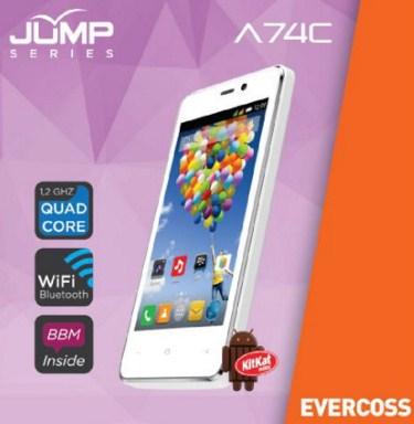 Spesifikasi dan Harga Evercoss A74C Jump