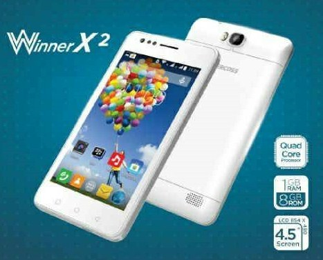Evercoss Winner X2, Smartphone Android 700 Ribuan RAM 1 GB